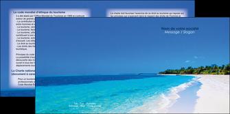 maquette en ligne a personnaliser depliant 2 volets  4 pages  sejours plage mer sable blanc MLGI37580