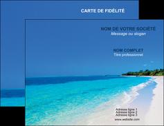 imprimer carte de visite sejours plage mer sable blanc MLGI37582