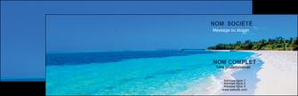 cree carte de visite sejours plage mer sable blanc MLGI37584
