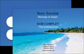 personnaliser maquette carte de visite voyagistes plage mer sable blanc MLGI37586
