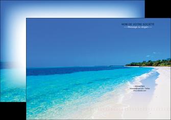 maquette en ligne a personnaliser pochette a rabat sejours plage mer sable blanc MLGI37588