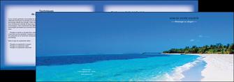 modele depliant 2 volets  4 pages  sejours plage mer sable blanc MLGI37592