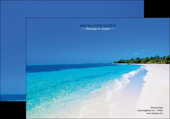 faire modele a imprimer flyers sejours plage mer sable blanc MLGI37594