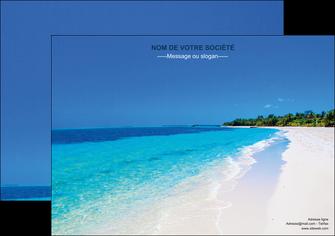 creer modele en ligne affiche sejours plage mer sable blanc MLGI37602