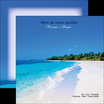modele flyers sejours plage mer sable blanc MLGI37606
