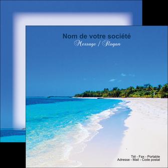 personnaliser maquette flyers sejours plage mer sable blanc MLGI37608