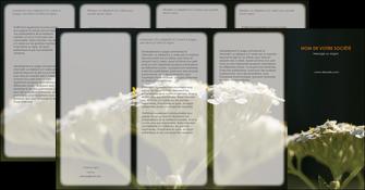 exemple depliant 4 volets  8 pages  fleuriste et jardinage plantes cactus fleurs MLGI37660
