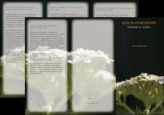 faire depliant 3 volets  6 pages  fleuriste et jardinage plantes cactus fleurs MLGI37670