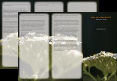 personnaliser maquette depliant 3 volets  6 pages  fleuriste et jardinage plantes cactus fleurs MLGI37680
