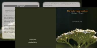 imprimerie depliant 2 volets  4 pages  fleuriste et jardinage plantes cactus fleurs MLGI37684