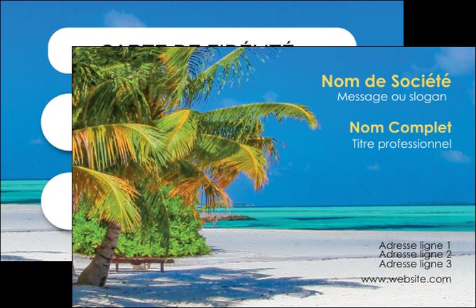 Carte de visite mod le et exemple plage cocotier sable for Agence format paysage