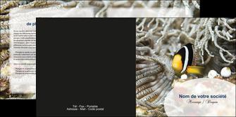 modele en ligne depliant 2 volets  4 pages  animal poisson plongee nature MLGI37894