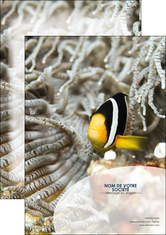 faire modele a imprimer affiche animal poisson plongee nature MLGI37896