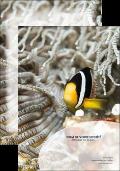 impression affiche animal poisson plongee nature MLGI37898