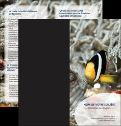 creation graphique en ligne depliant 2 volets  4 pages  animal poisson plongee nature MLGI37902