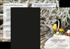exemple depliant 2 volets  4 pages  animal poisson plongee nature MLGI37904