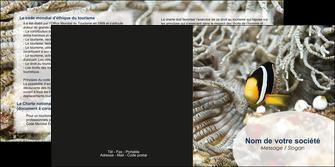 imprimerie depliant 2 volets  4 pages  animal poisson plongee nature MLGI37908