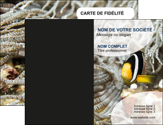 modele en ligne carte de visite animal poisson plongee nature MLGI37910