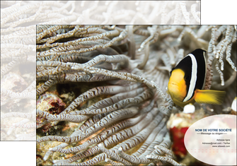 faire modele a imprimer pochette a rabat animal poisson plongee nature MLGI37916