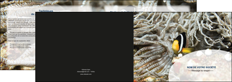 imprimer depliant 2 volets  4 pages  animal poisson plongee nature MLGI37920