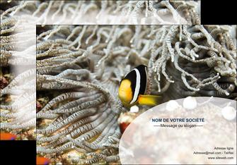 creer modele en ligne affiche animal poisson plongee nature MLGI37926
