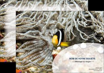faire modele a imprimer affiche animal poisson plongee nature MLGI37930