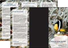 personnaliser maquette depliant 3 volets  6 pages  animal poisson plongee nature MLGI37932