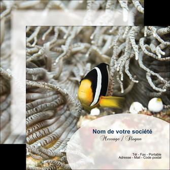 personnaliser maquette flyers animal poisson plongee nature MLGI37934