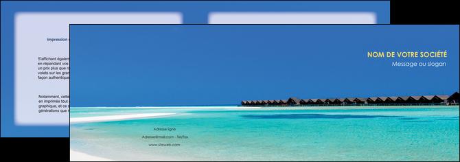 D pliant 2 volets 4 pages mod le et exemple plage for Agence format paysage
