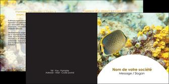 modele en ligne depliant 2 volets  4 pages  animal poisson plongee nature MLGI38228