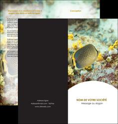 faire depliant 2 volets  4 pages  animal poisson plongee nature MLGI38230