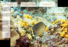 personnaliser modele de depliant 3 volets  6 pages  animal poisson plongee nature MLGI38232