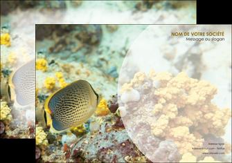 impression affiche animal poisson plongee nature MLGI38234
