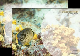 maquette en ligne a personnaliser affiche animal poisson plongee nature MLGI38238