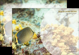 creer modele en ligne affiche animal poisson plongee nature MLGI38240