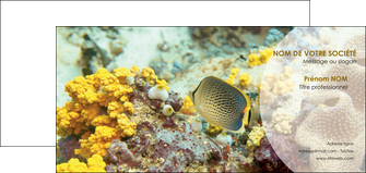 creation graphique en ligne carte de correspondance plongee  poisson plongee nature MLGI38242