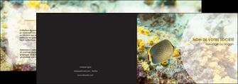 modele depliant 2 volets  4 pages  animal poisson plongee nature MLGI38246