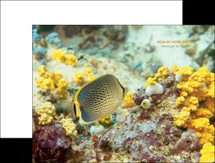 modele en ligne pochette a rabat animal poisson plongee nature MLGI38248