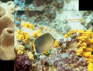impression pochette a rabat animal poisson plongee nature MLGI38250