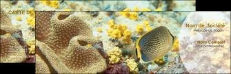 imprimerie carte de visite plongee  poisson plongee nature MLGI38254