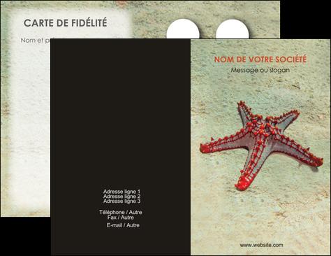 Personnaliser Maquette Carte De Visite Voyagistes Etoile Mer Sable MLGI38706