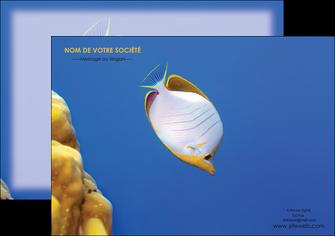 creer modele en ligne flyers poisson et crustace poissons mer ocean MIF38862