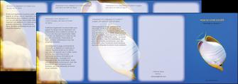 maquette en ligne a personnaliser depliant 4 volets  8 pages  poisson et crustace poissons mer ocean MIF38864