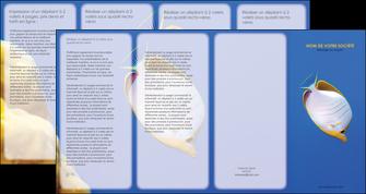 modele depliant 4 volets  8 pages  poisson et crustace poissons mer ocean MIF38866