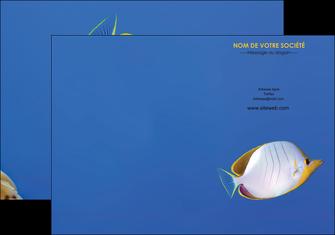 realiser pochette a rabat poisson et crustace poissons mer ocean MIF38872