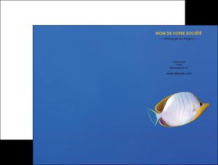 faire modele a imprimer pochette a rabat poisson et crustace poissons mer ocean MIF38874