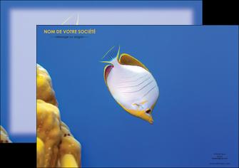 modele affiche poisson et crustace poissons mer ocean MIF38876