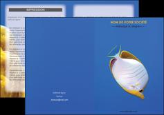 maquette en ligne a personnaliser depliant 2 volets  4 pages  poisson et crustace poissons mer ocean MIF38880