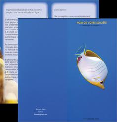 creation graphique en ligne depliant 2 volets  4 pages  poisson et crustace poissons mer ocean MIF38882