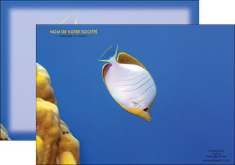 creation graphique en ligne affiche poisson et crustace poissons mer ocean MIF38886